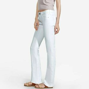 NWT Express white low rise barely bootcut jeans